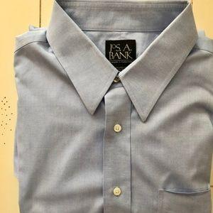 Jos A Bank Men's Blue Dress Shirt